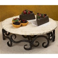 Wrought Iron Siena Lazy Susan....LOVE THIS!