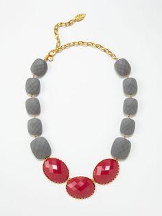David Aubrey pink and grey necklace