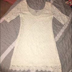 REPOSH Lace Bodycon dress! Size large. Didn't fit me. Fits more like a medium. Super cute though! Dresses Mini