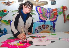chinese folklore kites paintings