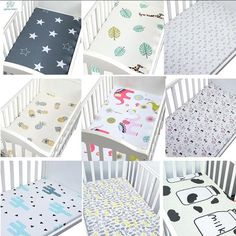 Cotton Crib Fitted Sheet Soft Breathable Baby Bed Mattress Cover Potector Cartoon Newborn Bedding For Cot Size Baby Crib Sheets, Baby Bedding Sets, Baby Cribs, Mattress Covers, Bed Mattress, Cheap Sheets, Newborn Bed, Sheet Sizes, Home Office Design