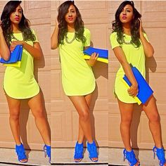 This outfit is adorbs! Probably wouldn't look nearly as good on me, but still. Fashion Killa, Look Fashion, Fashion Outfits, Womens Fashion, Fashion Clothes, Cool Outfits, Summer Outfits, Casual Outfits, Ropa Color Neon