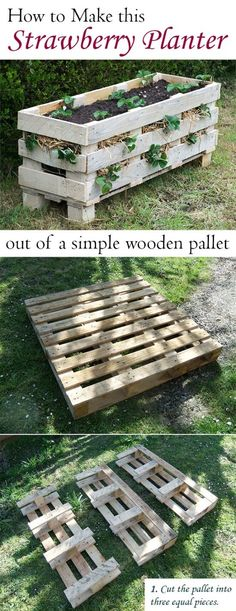 Strawberry Planter from pallets
