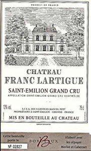 Saint-emilion Grand Cru – Château Franc Lartigue 2009 – Saint-Emilion Grand Cru – 150 Cl Magnum