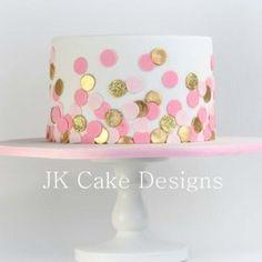 Baby shower ideas for girls pink gold polka dots 59 Ideas Golden Birthday Cakes, 1st Birthday Cake For Girls, Pink Birthday Cakes, Birthday Ideas, Smash Cake Girl, Girl Cakes, Pink Gold Cake, Pink And Gold, Girl Shower Cake