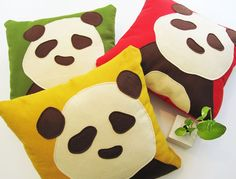 jwatty's panda pillows on etsy are awesome!