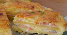 Πατατόπιτα με μπεσαμέλ, τυρί και αλλαντικά στο φούρνο. Μια εύκολη συνταγή για μια υπέροχη πατατόπιτα, αφράτη με την ιδιαίτερη γεύση της γκοργκοντζόλα και α Cookbook Recipes, Cooking Recipes, Bread Dough Recipe, Potato Cakes, Pizza, Easy Cooking, Potato Recipes, Main Dishes, Side Dishes