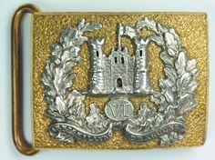 1900 6th Inniskilling Dragoons general service and dress waist belt clasps