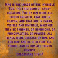 Jesus is God Manifest in the Flesh.
