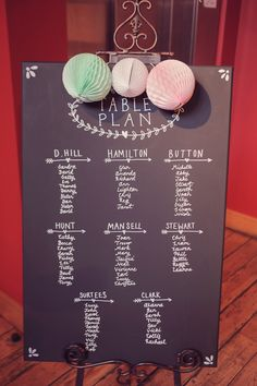 Fresh Pretty Quirky Spring Wedding Blackboard Table Plan http://www.mr-and-mrs-wedding-photography.co.uk/