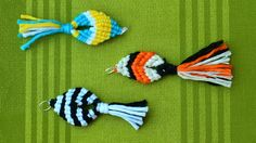 Quick and Easy Macrame fish - useful everywhere and can be used flexibly. This fish can be used for different purposes - jewelery, keyrings, Necklaces, earrings, pendants, zippers, etc .. ;) by @Macrame School