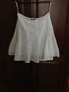 Kennar White Eyelet Skirt Size 8