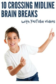 Breaks Ideas: 10 Crossing Midline Activities for Kids Brain Break Ideas: 10 Crossing the Midline Brain Break Resources for home or classroomBrain Break Ideas: 10 Crossing the Midline Brain Break Resources for home or classroom Movement Activities, Gross Motor Activities, Gross Motor Skills, Sensory Activities, Therapy Activities, Activities For Kids, Music Activities, Movement Songs, Sensory Diet