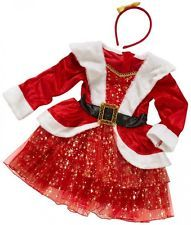 Womens Mrs Santa Claus Christmas Outfit Fancy Dress Costume