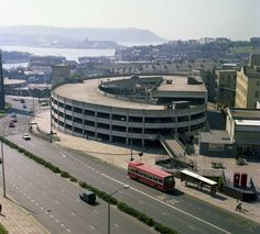 Plymouth old car park next to the magic roundabout and just across from c&a's Devon Uk, Devon And Cornwall, Cornwall England, Plymouth Hoe, Plymouth England, Britain Uk, Great Britain, Old Pictures, Old Photos