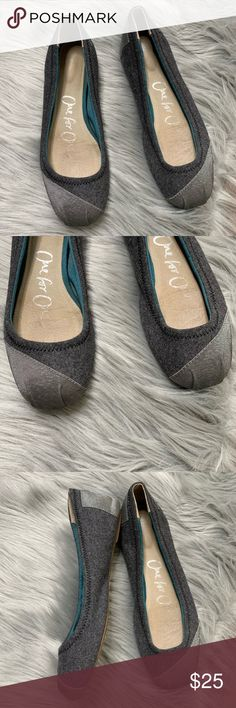 81ad22a4f6 TOMS | Gray Two Tone Wool Ballet Flats TOMS | Gray Two Tone Wool Ballet  Flats