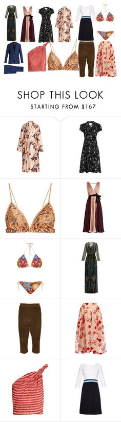 """weekend best sale"" by monica022 ❤ liked on Polyvore featuring Katie Eary, HVN, Roksanda, Anna Kosturova, Zandra Rhodes, By Walid, Simone Rocha, Rosie Assoulin, Goat and Paul Smith"