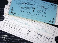 Formal Vintage Ticket