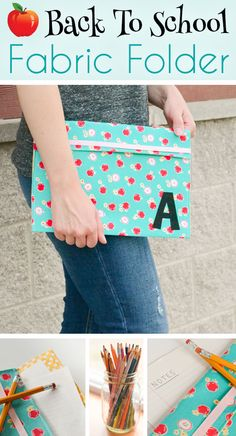 Learn how to make this cute and easy, DIY Fabric Folder that is the perfect accessory to take back to school!