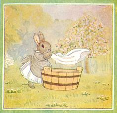 """""""Little Grey Rabbit"""" by Margaret Tempest. Such a sweet image."""