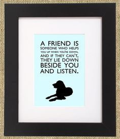 Dog Quotes Framed Print Retriever by ShopBee on Etsy, $55.00
