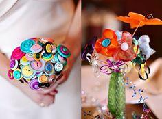 Button & Material Bouquets