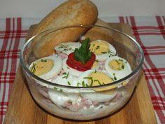 Süssünk, főzzünk valamit!: Sonkás tojássaláta Easter Recipes, Easter Food, Tasty, Yummy Food, Guacamole, Paleo, Pudding, Ethnic Recipes, Desserts