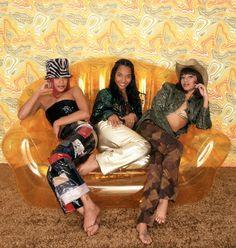 "Musical group TLC, Tionne ""T-Boz"" Watkins, Rozonda ""Chilli"" Thomas and Lisa ""Left Eye"" Lopes pose for a studio portrait in 1999 in Hollywood, California. Black 90s Fashion, Hip Hop Fashion, Tlc Group, Girl Group, Hip Hop And R&b, 90s Hip Hop, Tlc Albums, Black Girl Magic, Black Girls"
