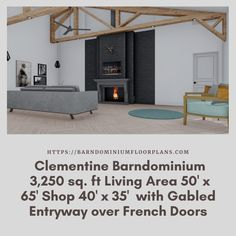 $595. Bed – 3 Bath – 3,250 sq. ft. with Gabled Entryway over French Doors. We sell semi-custom Barndominium floor plans and provide helpful tips to design and build your home whether it is DIY or you are paying a company. #architecture #barndominiums #home #modernbarn #barnhomefloorplans #beautifulbarn #homefloorplan #barnhomedesign #housedesign #barndominiumfloorplans #floorplan #dreambarn #barnhouse #barndominiumliving #interiordesign #barndominiumdesign #livingroom #livingroomideas…