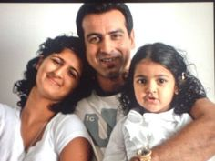 Ronit Roy with Daughters Ona and Aador.