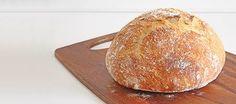 Crusty rustic no-knead bread
