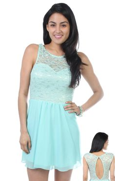 Deb Shops sweetheart metallic #lace bodice with open back and chiffon skirt #dress