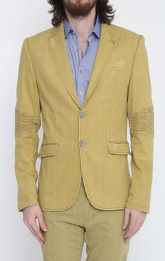 Yellow Peak Casual Summer Blazer #colors