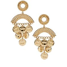 ASOS Coin Detail Chandelier Earrings ($9.28) ❤ liked on Polyvore