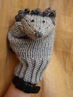 Free Knitting Pattern for Hedgehog Mittens - Designed by Ekaterina Sokolova