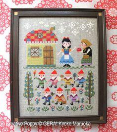 <b>Snow White</b><br>cross stitch pattern<br>by <b>Gera! by Kyoko Maruoka</b>