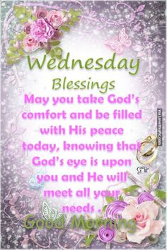 clip art wednesday blessings flowers | Wednesday Blessings, Good Morning Pictures, Photos, and Images for ...