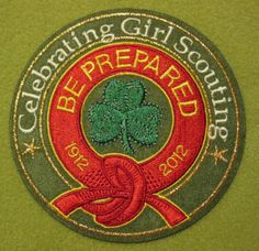 Girl Scout 100th Anniversary Be Prepared patch. GSUSA. Thank you, Talli.