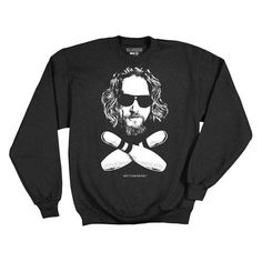 Big Lebowski The Dude and Bowling Pins Fleece Sweater - Ripple Junction - Big Lebowski - Sweatshirts at Entertainment Earth
