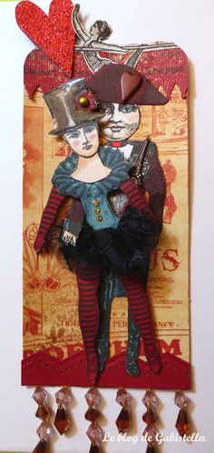 "Les fiancés du Cirque par Gabistella pour Character Constructions (Catherine Moore)  ""Le cirque"" new stamps collection-Janvier 2014  http://parisdreams.fr"