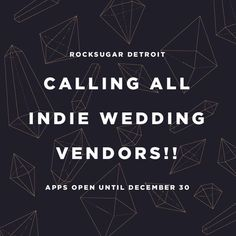 #RockSugar is an indie #wedding event happening on March 12 2017 at @rustbeltmarket in #Ferndale. Give your business a boost this summer by getting booked! Our application will CLOSE this FRIDAY and won't be open again until next year! Apply today http://ift.tt/2iwZOdj     #weddingshow #modernwedding #detroitwedding #michigan #michiganwedding #indiewedding #weddingindustry #weddingbusiness #weddingvendor #weddingideas #businesspromotion #smallbusiness #followyourpassion #dowhatyoulove…