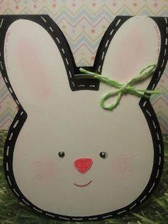 shaped bunny card