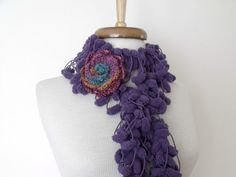 Purple Cocoon ScarfReady for shippingFall by knittingshop on Etsy, $15.00