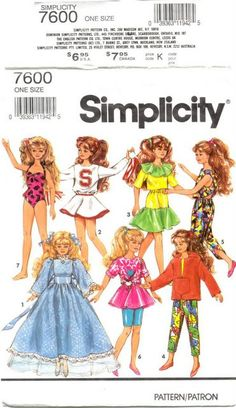 Barbie clothes cost so much why not make them instead Sewing Doll Clothes, Doll Clothes Barbie, Sewing Dolls, Barbie Dress, Doll Clothes Patterns, Clothing Patterns, Doll Patterns, Barbie Doll, Barbie Stuff