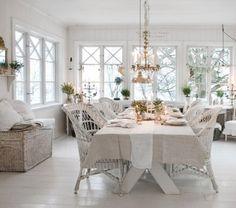 #shabby #white #dining
