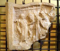 Relief decorating the seating area entrances of the Roman Amphitheatre, Capua Gladiator Museum, Capua   Flickr: Intercambio de fotos
