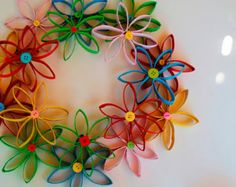 Summer Coiled Paper Wreath