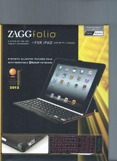 ZAGG Folio Ipad Air Bluetooth Keyboards For iPad with Wi-Fi + Cellular  New! #Zagg