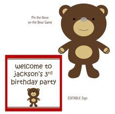 Printable Teddy Bear Party
