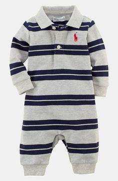 Ralph Lauren Stripe Mesh Romper (Baby Boys)   Nordstrom